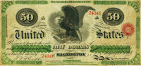 Fr. 212 $50 Act of June 30, 1864 Three-Year 5% Interest Bearing Note Hessler X145A. PMG Very Fine 20 Net