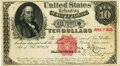 Fr. 214 $10 Act of February 26, 1879 Refunding Certificate Hessler X176B. PMG About Uncirculated 53
