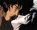 Animation Art:Production Cel, Ninja Scroll Jubei and Kagero Production Cel with Master Background (Madhouse, 1993)....