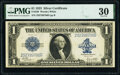Large Size:Silver Certificates, Fr. 238 $1 1923 Silver Certificates Two Examples PMG Graded Very Fine 30; Very Fine 30 EPQ.. ... (Total: 2 notes)
