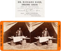 Military & Patriotic:Civil War, Army of the Potomac Embalmer: Business Card and Stereo View.. ... (Total: 2 )