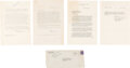 Explorers:Space Exploration, Wright Brothers Estate: Archive of Five Letters Regarding the Sale of the Original Wright Flyer to the Smithsonian and Finally...