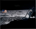 Explorers:Space Exploration, Michael Collins Signed Large Apollo 11 Neil Armstrong Lunar Surface Color Photo, with Novaspace Certificate of Authenticity....