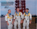 Explorers:Space Exploration, Charlie Duke Signed Large Apollo 1 Crew Color Photo with Extensive Commentary about Astronaut Safety....