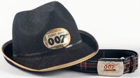 "James Bond: Thunderball (Gud Prod Ltd.,1965). Very Fine+. Costume Hat (10"" X 9.25"") & Costume Belt (1""..."