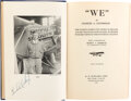 Explorers:Space Exploration, Charles Lindbergh Signed Book: We....