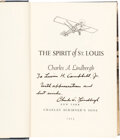 Explorers:Space Exploration, Charles Lindbergh Signed Book: The Spirit of St. Louis....