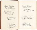 Explorers:Space Exploration, Jules Verne: From the Earth to the Moon Book Signed by Eight Apollo Astronauts....