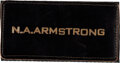 """Explorers:Space Exploration, [Apollo 11] Neil Armstrong Owned and Worn Original Apollo-Era """"N.A. ARMSTRONG"""" Leather Flight Suit Name Tag as Given to a NASA..."""