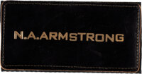 """[Apollo 11] Neil Armstrong Owned and Worn Original Apollo-Era """"N.A. ARMSTRONG"""" Leather Flight Suit Name Tag as..."""