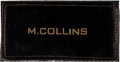 """Explorers:Space Exploration, [Apollo 11] Michael Collins Owned and Worn Original Apollo-Era """"M. COLLINS"""" Leather Flight Suit Name Tag as Given to a NASA We..."""