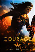 """Movie Posters:Action, Wonder Woman (Warner Bros., 2017). Rolled, Very Fine+. One Sheet (27"""" X 40"""") DS Advance, """"Courage"""" Style. Action.. ..."""