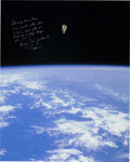 Explorers:Space Exploration, Bruce McCandless Signed Large STS-41-B Untethered Spacewalk Color Photo with Photographic Provenance....