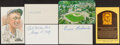 Autographs:Index Cards, Baseball Hall of Famers Signed Postcards & Index Cards. ...