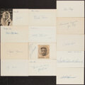 Autographs:Index Cards, Baseball Stars & Hall of Famers Signed Index Cards, Lot of 13. ...