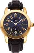 Timepieces:Wristwatch, Ulysse Nardin Ref. 276-88 Gold Automatic Chronometer With Power Reserve & Date. ...