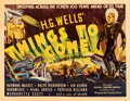 """Movie Posters:Science Fiction, Things to Come (United Artists, 1936). Fine- on Paper. Half Sheet (22"""" X 28"""").. ..."""