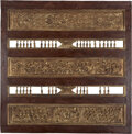 Carvings, Two-Piece Carved Gilt Wood Temple Panel, Indonesia, late 18th-early 19th century. 54-1/2 x 54 x 2 inches (138.4 x 137.2 x 5.... (Total: 2 Items)