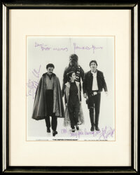 Star Wars & Other Lot (20th Century Fox, 1977). Very Fine. Autographed Framed Color Photo, Autographed Framed and Ma...