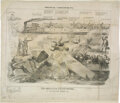 """Political:Posters & Broadsides (pre-1896), 1864 Political Caricature No. 3 """"The Abolition Catastrophe"""" This is a large (22"""" x 19"""") anti-Abraham Lincoln campaign print ..."""