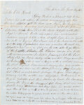 Autographs:Military Figures, [Jack Hays' 1st Regiment, Texas Mounted Volunteers] and [Mexican War]. David P. Marshall Autograph Letter Signed....