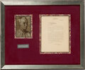 Autographs, Harvey Cushing Typed Letter Signed. ...