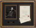 Autographs:U.S. Presidents, Harry S. Truman Typed Letter Signed. One page, 7.2...