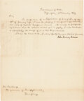Autographs:U.S. Presidents, John Quincy Adams Letter Signed. One page, Depart...