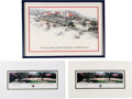 Autographs:U.S. Presidents, Ronald Reagan and Richard Nixon Signed Presidential Library Limited Edition Images. ... (Total: 2 Items)