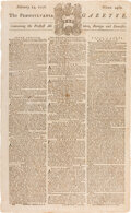Miscellaneous:Newspaper, [House of Lords Protest]. The Pennsylvania Gazette, February 14, 1776. ...