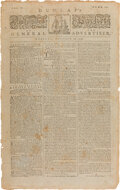 Miscellaneous:Newspaper, [John Hancock's Rules and Articles for the Better Government of the Troops Raised]. The Pennsylvania Packet, Octob...