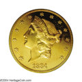 Proof Liberty Double Eagles: , 1884 $20 PR64 PCGS. An issue that needs no introduction ...