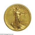 High Relief Double Eagles: , 1907 $20 High Relief, Wire Rim AU58 ANACS. Fully and ...