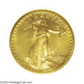 """High Relief Double Eagles: , 1907 $20 High Relief, Wire Rim MS64 NGC. The term """"upper-..."""
