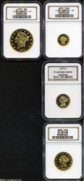 Early Proof Sets: , An incredibly preserved set of 1899 proof gold coinage, ... (4 Coins)