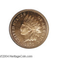Proof Indian Cents: , 1877 1C PR64 Cameo PCGS. This full red coin shows ...