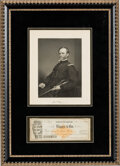 Autographs:Military Figures, William T. Sherman Signed Check. ...