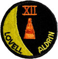 Explorers:Space Exploration, Gemini 12 Flown Embroidered Mission Insignia Crew Patch Directly from the Personal Collection of Mission Commander James Lovel...