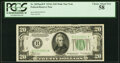 Fr. 2055-B* $20 1934A Mule Federal Reserve Note. PCGS Choice About New 58
