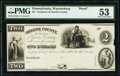 Waynesburg, PA- Treasurer of Greene County $2 18__ Proof Hoober UNL PMG About Uncirculated 53