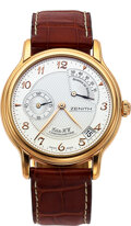 """Timepieces:Wristwatch, Zenith, 18k Pink Gold """"Elite HW Chronomaster, Date And Power Reserve. ..."""