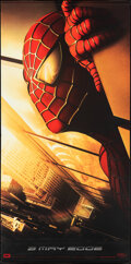 """Movie Posters:Action, Spider-Man (Columbia, 2002). Rolled, Very Fine-. Vinyl Banner (48"""" X 96.75"""") Twin Towers Style. Action.. ..."""