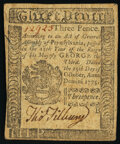 Pennsylvania October 25, 1775 3d Very Fine-Extremely Fine