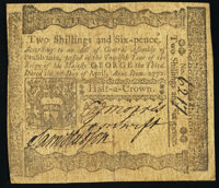 Pennsylvania April 3, 1772 2s 6d Very Fine-Extremely Fine