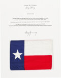 Explorers:Space Exploration, Apollo 10 Flown Texas Flag Directly from the John W. Young Collection, with Letter of Certification....
