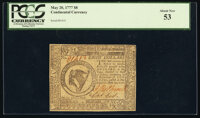 Continental Currency May 20, 1777 $8 PCGS About New 53