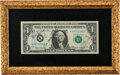 Explorers:Space Exploration, Apollo 16 Crew-Signed Dollar Bill in Framed Display. ...