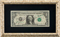 Explorers:Space Exploration, Apollo 17 Crew-Signed Dollar Bill in Framed Display....