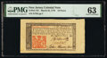 Colonial Notes:New Jersey, New Jersey March 25, 1776 18d PMG Choice Uncirculated 63.. ...