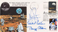 """Explorers:Space Exploration, Apollo 11 Crew-Signed """"Type One"""" Insurance Cover with MSCSC Cachet, also with the Apollo 11 25th Anniversary Stamp and Pictori..."""